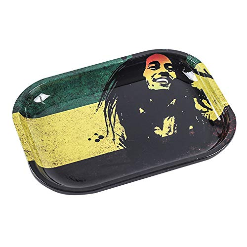 7 * 5.5Inch Metal Upgraded Weed Tray Cigarette Rolling Trays for Weed Ashtray Blunt Roller