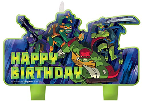 Rise of the TMNT'Happy Birthday' Candle Set - 4 pcs