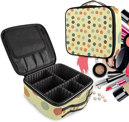 Cosmétique HZYDD Coloré Spot Point Make Up Bag Trousse de Toilette Zipper Sacs de Maquillage Organisateur Poche for Compartiment Femmes Filles Gratuit