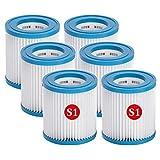 Cartuchos de repuesto para Intex tipo S1, filtro de piscina hinchable para Whirlpool S1, filtro de piscina para jardín al aire libre para Intex 29001 (6)