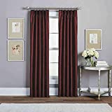 Peri Home Spellbound Pinch-Pleat 95-Inch Rod Pocket Lined Window Curtain Panel in Crimson
