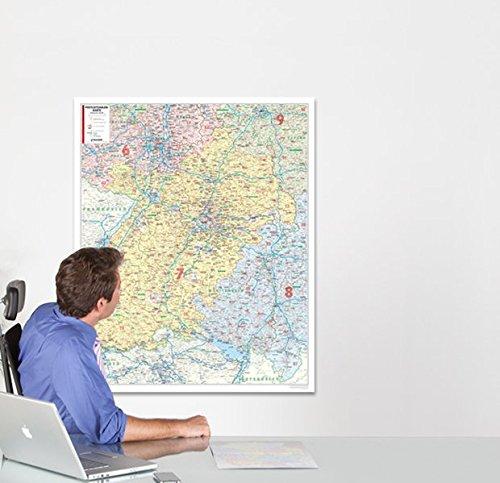 BACHER Postleitzahlenkarte Baden-Württemberg, Maßstab 1:250 000, Papierkarte gerollt: Die Postleitzahlenkarte Baden-Württemberg beinhaltet 1- und ... Stadt- und Landkreise, 1:350 000
