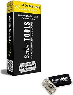 Boite de 40 lames double pour rasoir de sécurité et rasoir droit coupe-choux lame interchangeable. ✮ BARBER TOOLS ✮