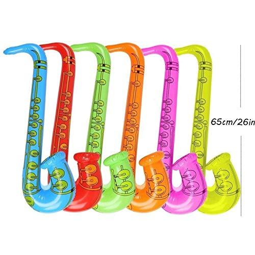 Yojoloin 12 STÜCKE Inflatables Gitarre Saxophon Mikrofon Luftballons Musikinstrumente Zubehör Für Party Supplies Party Favors Ballons Zufällige Farbe (12 STÜCKE)