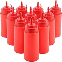 Ketchup Moutarde bouteilles de sauce et de 10 mouchoirs Invero Style r/étro Summer BBQ Chips Panier /à condiments servir Nourriture Pr/ésentation Lot Comprend 2 x paniers