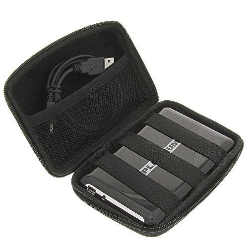 foto-kontor Tasche Case Huelle Fuer 6,4cm (2,5 Zoll) Festplatten schwarz für Intenso Memory House