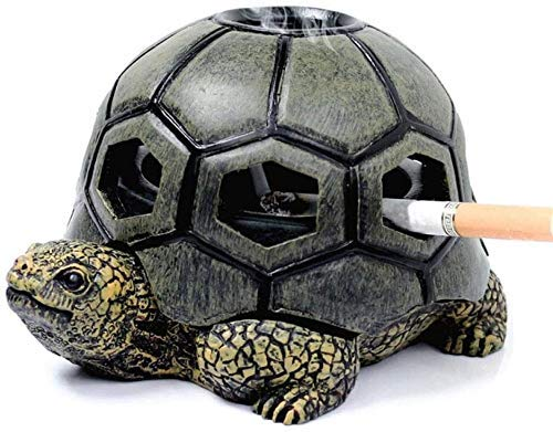 AMITD Creative Resin Turtle Rok Sigaret Asbak Crafts Decoratie Asbak voor Outdoor Office Auto-Vriend-Gift Output-Decoratie Groen (Color : Groen) Green groen