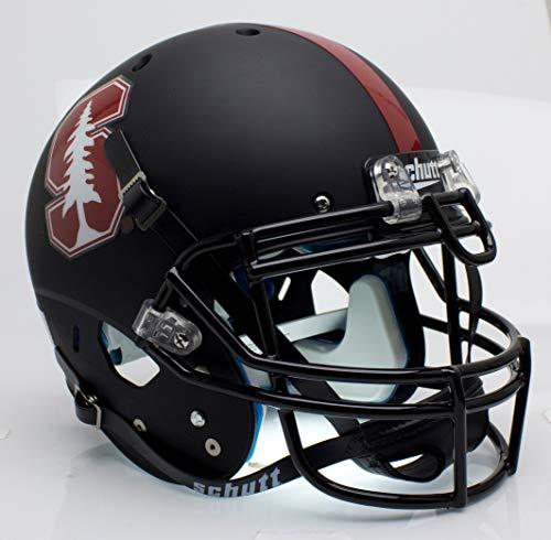 Schutt NCAA Stanford Cardinal On-Field Authentic XP Football Helmet, Black Tree Alt. 3