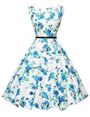 GRACE KARIN Sleeveless Retro Wiggle Dresses Pin-up Style Size L F-23