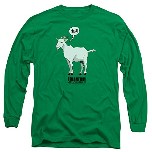Quantum And Woody - Meh à manches longues pour hommes T-shirt, Medium, Kelly Green