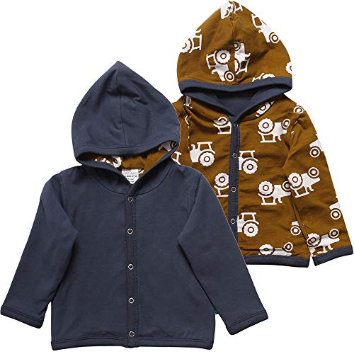 Fred'S World By Green Cotton Tractor Jacket Blouson, Bleu (Midnight 019411006), 56/62 Bébé garçon