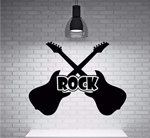 Zxfcczxf Guitarra Vinilo Rock'N'Roll Gitarre Instrumentalmusik Wandbild Fototapete Mehr Infos 76 * 55Cm