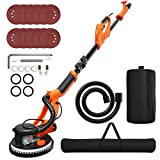 Goplus 750W Drywall Sander, Electric Foldable Sander Machine w/Dust-Free Automatic Vacuum System, 6 Variable Speed 800-1750 RPM, Double-Deck LED Lights, 12 Sanding Disks & Carrying Bag (Foldable)