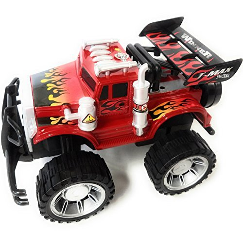 Like Hot Wheels Extra Large! Monster Truck Children's Kid's Friction Toy Truck Ready To Run, High Speed 4WD Climbing, No Batteries Required