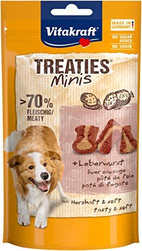 Vitakraft Treaties Mini Pâtée de Foie, Friandise Snack à la Viande Qualité Premium pour Chien, 8 Sachets de 48 g