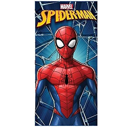 Toalla de playa de microfibra, 140 x 70 cm, secado rápido, ultrasuave (Spiderman azul y rojo)