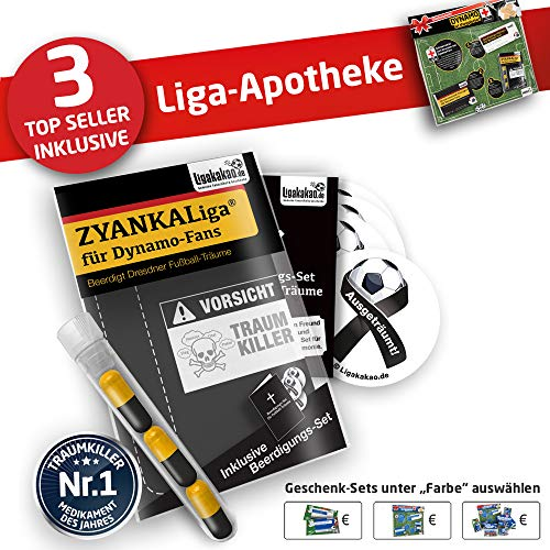 Dynamo Kapuzen-Pullover ist jetzt die Liga-APOTHEKE für Dynamo Fans by Ligakakao.de Herren Hoody fußball Fan Fleece Sweatshirt schwarz-gelb
