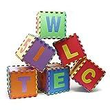 Alfombra puzzle para niños con letras y números 86 piezas 3.2m² Colchoneta de juegos Espuma EVA