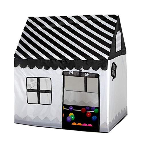 Goodvk Tienda Infantil Children's Play Tent Toy Portátil Bola Plegable Piscina Interior al Aire Libre Gran Tienda de campaña para niños Regalos para Niños (Color : Black, Size : 110×100×70 cm)
