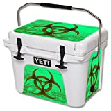 MightySkins Skin Compatible with YETI 20 qt Cooler - Biohazard | Protective, Durable, and Unique Vinyl Decal wrap Cover | Easy to Apply, Remove, and Change Styles | Made in The USA