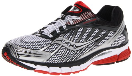Saucony Men's Ride 6 Running Shoe,White/Red/Black,9 M US