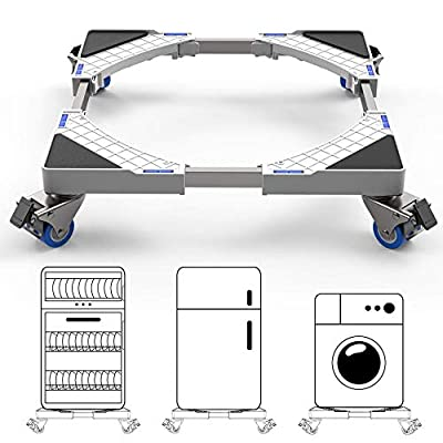 YPSMLYY Multi-function Adjustable Washing Machine Base, Floor Tray With 4 Sturdy Tripods, Durable, Load 300 Kg, Suitable For Washing Machines, Dryers And Refrigerators