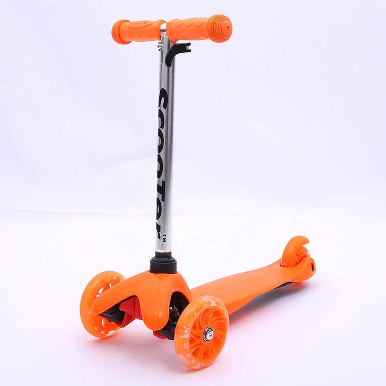 ventas al por mayor Scooter para Niños 2-6 años Rueda Rueda Rueda de Flash de PU Scooter de Tres Ruedas para Niños,naranja  los nuevos estilos calientes