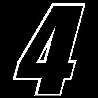 Auto Vynamics - NMBR-SCI4-2CLR-5-GWHIBLA - Vinyl 2-Color Racing / Sport Number