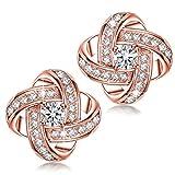 Alex Perry regalo di natale per donna orecchini di zirconi cubici oro rosa argento 925 regali san valentino per lei gioielli donna regali natale compleanno per le donne ragazze amica mamma lei