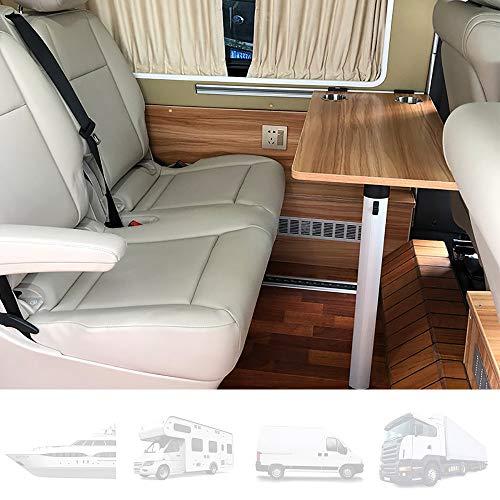 Tischplatte für Wohnwagen, seitlich hängender Klapptisch für Wohnmobile Mit 2 Schalenschlitzen, Innenausstattung für Wohnmobile, Boote, Wohnwagen, Vans, 79 × 39 cm,A