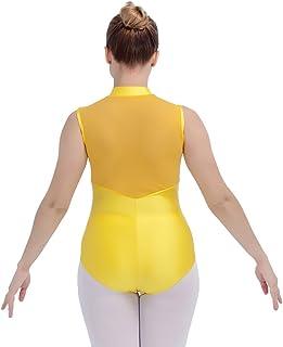 28925de087bf HDW DANCE Women Ballet Dance Leotard Mesh Back Zipper Front