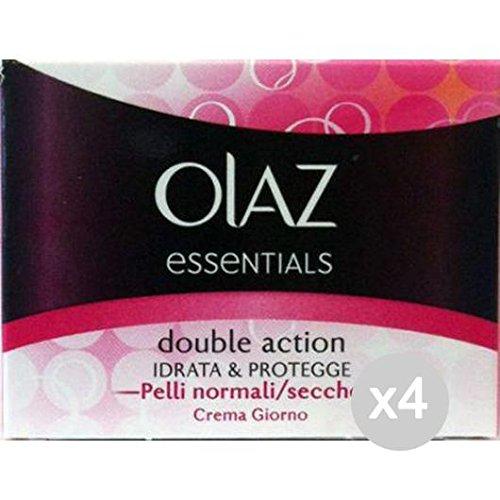 Set 4 OLAZ Doppelrahm Trockene Haut Mit Feuchtigkeit Versorgt Normal Schützt Pflege Und Reinigung Von Gesicht