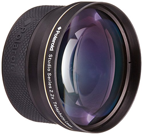 Polaroid Studio Series 2.2X High Definition Telephoto Lens Tele - Objetivo (Teleobjetivo, Negro, 7,2 cm, Caja)