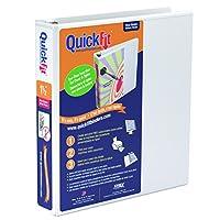 QuickFit元ビューバインダー、Dリング、ホワイト、(ボックスof 12) ( 87020) 1.5-Inch