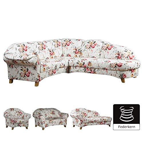 Geblümtes Sofa mit Federkern im Landhau auf schoene-moebel-kaufen.de ansehen