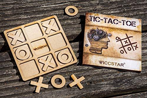 WICCSTAR Tic-Tac-Toe Spiel Legespiel Holz Puzzle IQ Spiel
