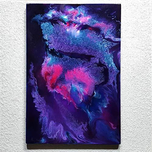 ORIGINAL Abstrakte Malerei Resin Kunst Bild Harz Gemälde Unikat HANDGEMALT - hochglanz Wandbilder direkt vom Künstler F.H. - Wohnung Deko Wohnzimmer - Werksnummer: Re 046