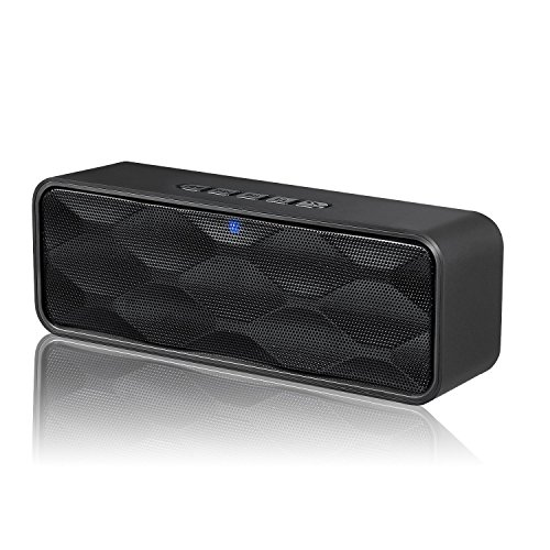 ZoeeTree S1 Mini Kabellose Bluetooth Lautsprecher mit Dual-Treiber HD Audio & FM Radio, AUX / TF Karte Support - Schwarz