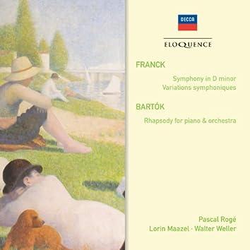 Franck: Symphony in D Minor, Variations Symphoniques – Bartók: Rhapsody