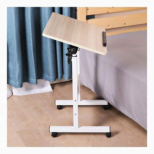 GUOQING Mobiler Laptop-Schreibtisch Für Schlafzimmer, Wohnzimmer, Sofa Laptopständer Pflegetisch (Color : White Wood Color, Size : 80x50cm)