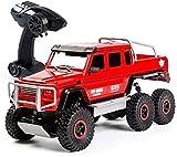 Moerc Camioneta de camioneta inalámbrica de camioneta inalámbrica de camioneta de alojamiento de alta velocidad de gran tamaño de la aleación de seis ruedas RC de la escalada del automóvil de la escal