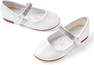 girls off white dress shoes