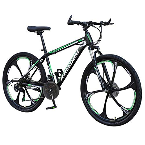 Exercial Mountain Bike, Mountain Bicycles for Men Women Adult with 26 Inch Wheels, 21 Speed, Disc Brakes, Full Suspension (H)