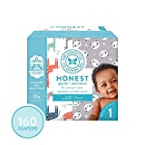 The Honest Company Super Club Box Diapers with TrueAbsorb Technology, Pandas & Safari, Size 1, 160 Count