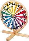 small foot 6251 Glücksrad aus Holz, auf jeder Tischplatte spielbar, Spielspaß für die ganze Familie, ab 5 Jahren Spielzeug