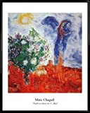 1art1 Marc Chagall Poster Kunstdruck und Kunststoff-Rahmen
