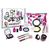 Winthai Maquillaje NiñAs 10 Piezas, Juego de Maquillaje para Niñas, Set Maquillaje NiñA, Accesorios de NiñA para NiñOs Juguetes de Vestir CosméTicos Juego con Bolso de Embrague