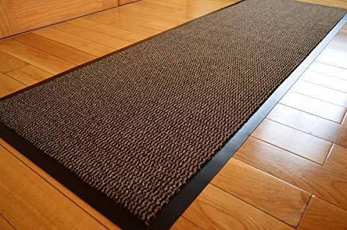 Medium extra stor lång bröstbrun / svart kraftig plikt stark halkfri kraftig matta dörr kontor kök verktygsmatta (60 x 180 cm)