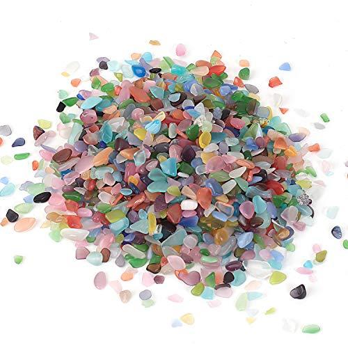 Pierre brillante en cristal de pierres polies pour guérison Reiki pour aquarium, plantes succulentes, cadeaux de décoration (opale, 5-8 mm)