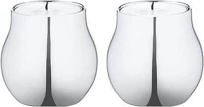 Georg Jensen CAFU tealight holder stainless steel 2 pcs.